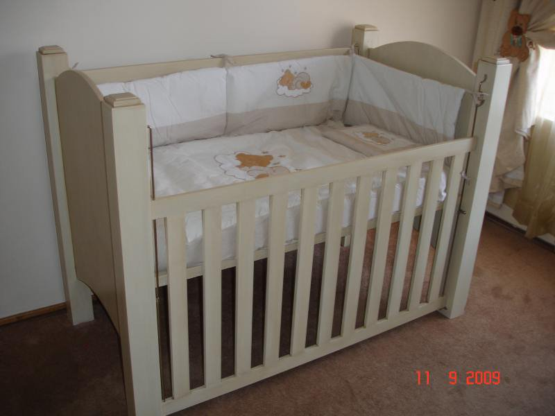 Paint Technique Baby Cot (painted With Non Toxic Paint)